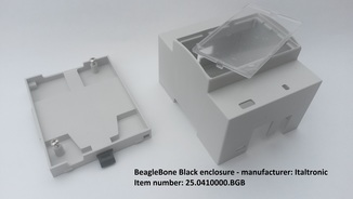 DIN rail enclosure for BeagleBone Black