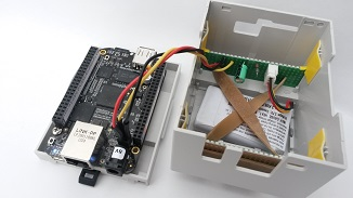 BeagleBone Black connected to UPS